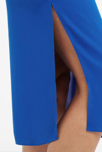 Oasis, V Front And Back Midi Dress Mid Blue 4