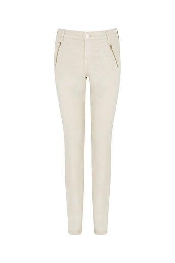 Oasis, Jade Skinny Biker Jeans Cream 0