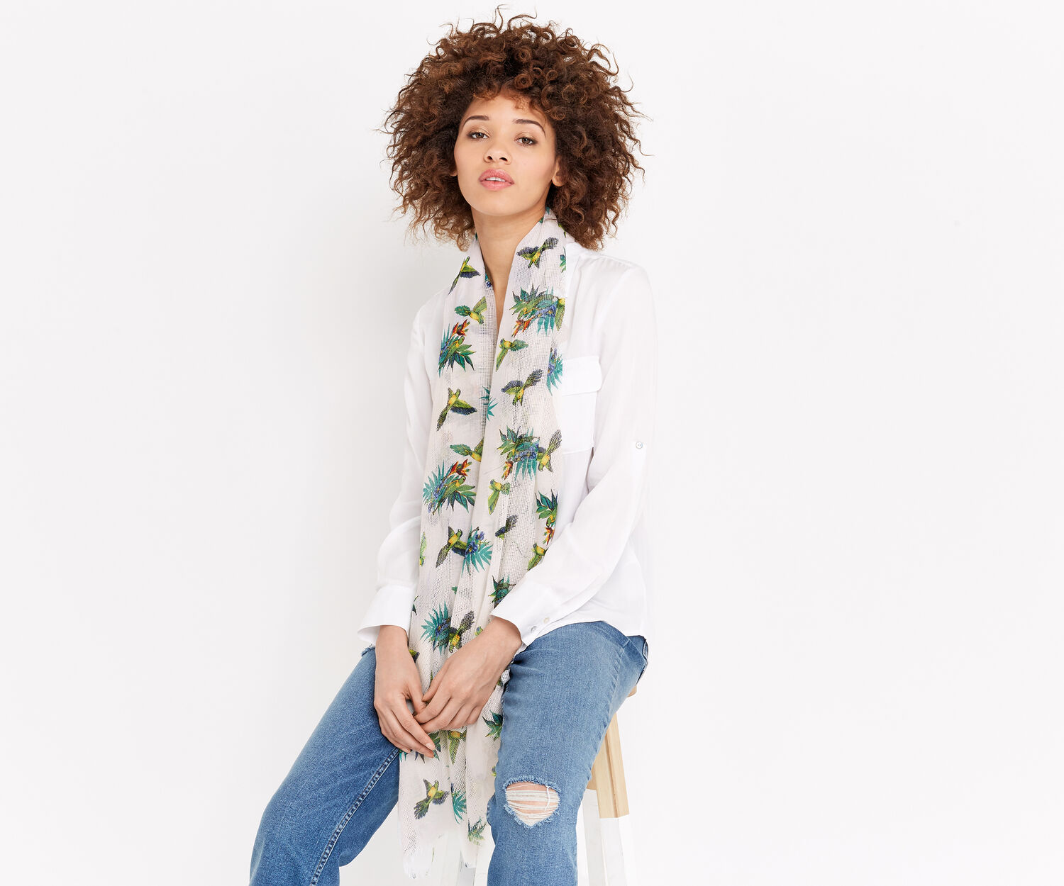 Oasis, PALM BIRD SCARF Multi 1