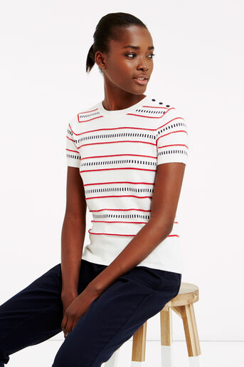 Oasis, Stripe button knit Multi 1