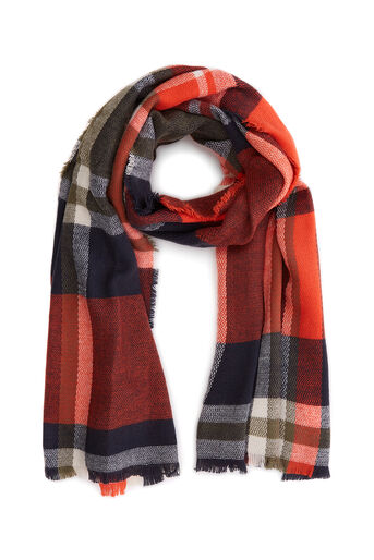 Oasis, ANNABELLE CHECK SCARF Navy 0
