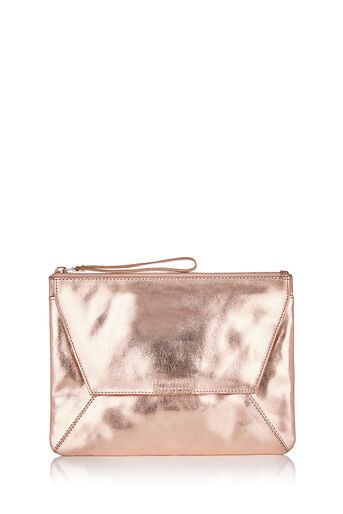 Oasis, LEATHER CLUTCH Gold 0