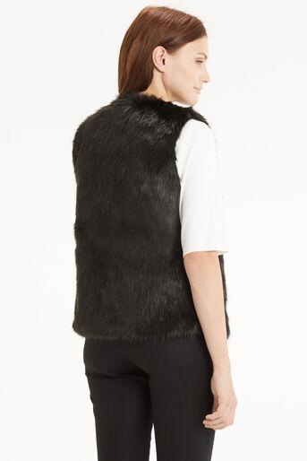 Oasis, Short Glam Fur Gillet Black 3