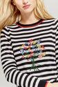 Oasis, Embroidered stripe jumper Multi Black 4