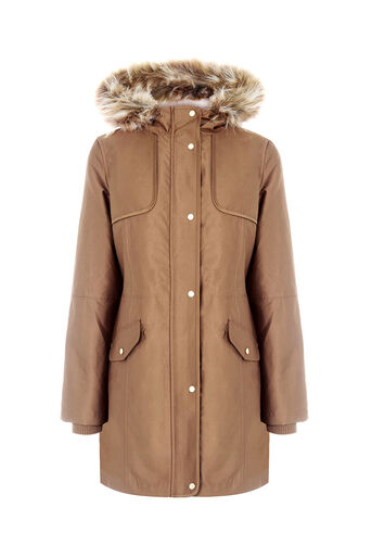Oasis, THE GRACE PREMIUM PARKA Camel 0