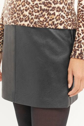 Oasis, Mini-jupe en simili cuir Noir 4