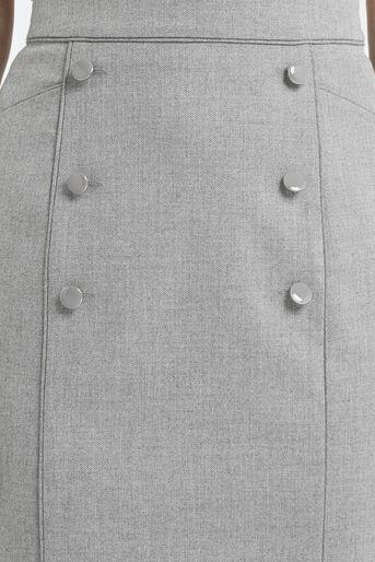 Oasis, Petite Workwear Skirt Pale Grey 4