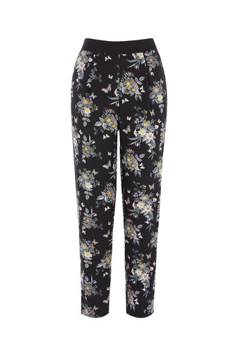 Oasis, PETAL SOFT TROUSER Black 0
