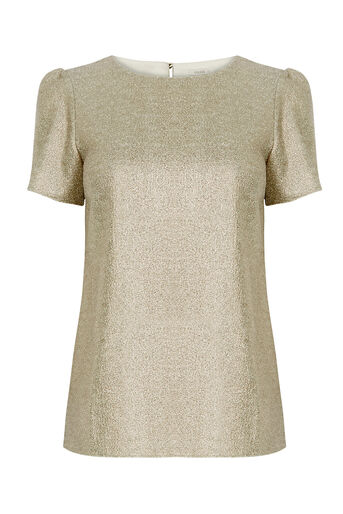 Oasis, SPARKLE FORMAL T SHIRT Gold 0