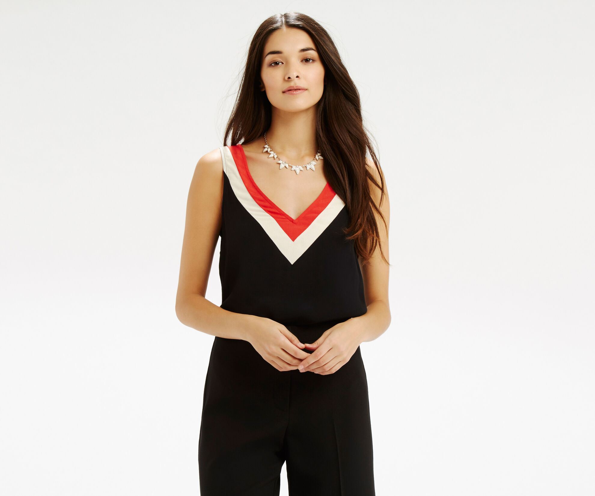 Oasis, Colour Block Vest Multi 1