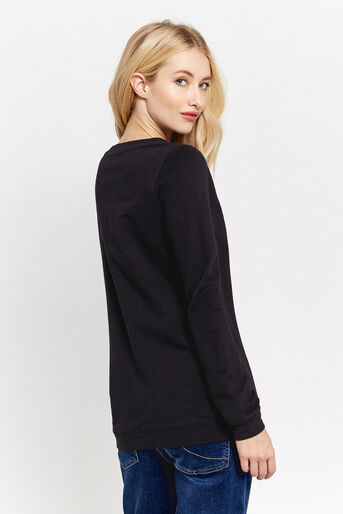 Oasis, EMBROIDERED BUTTERFLY SWEAT Black 3