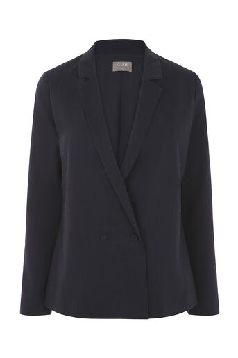 Oasis, LINEN SUIT JACKET Navy 0