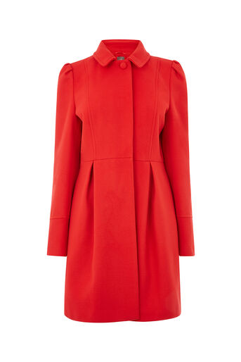 Oasis, ANGELIQUE PRINCESS COAT Rich Red 0
