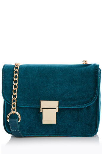 Oasis, PAMMY PARIS BAG - VELVET Teal Green 0