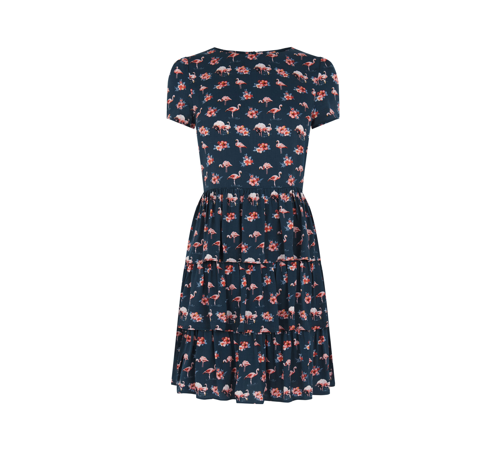 FLAMINGO PRINT DRESS | Oasis
