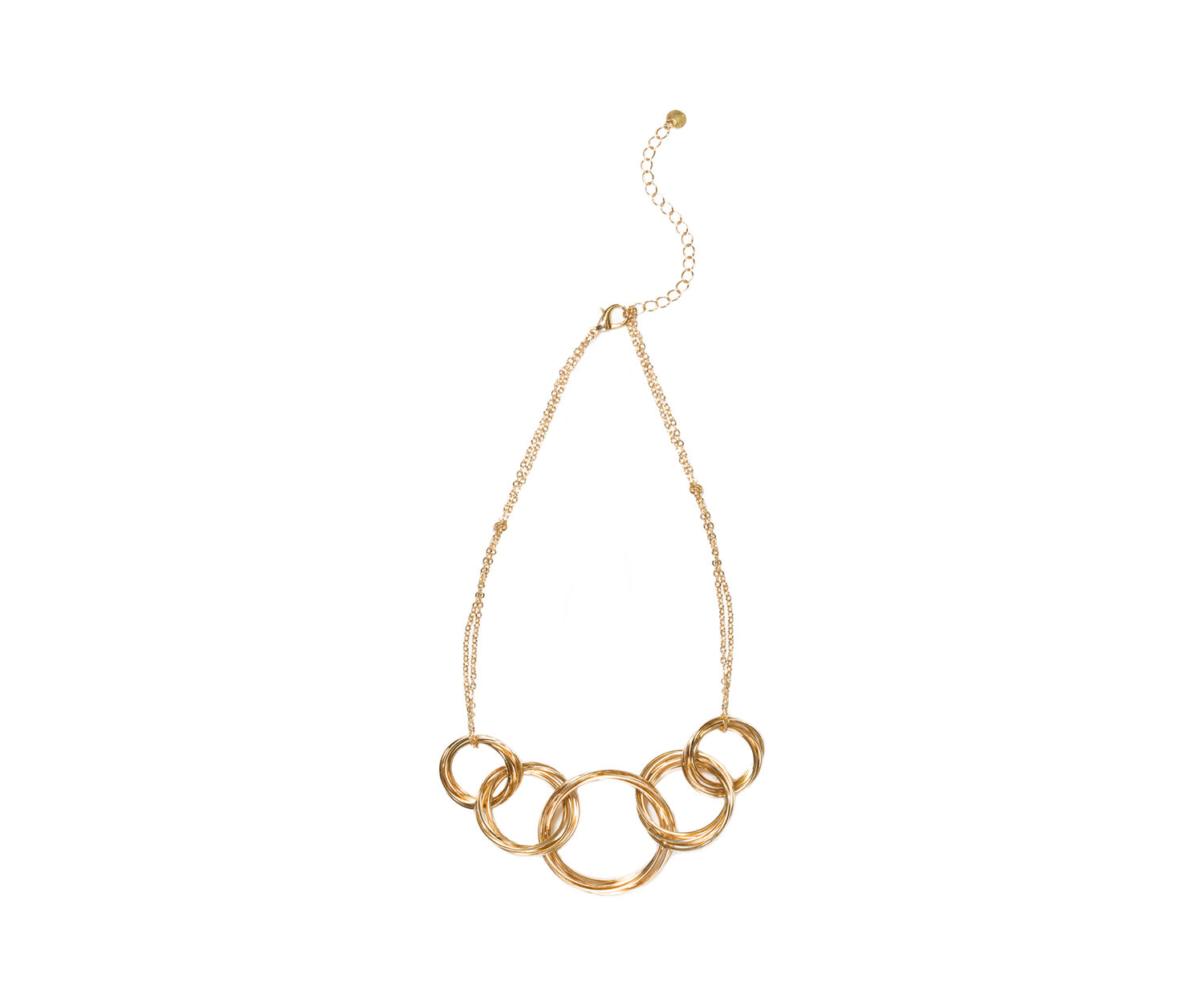Oasis, MULTI RING LINK NECKLACE Gold 1