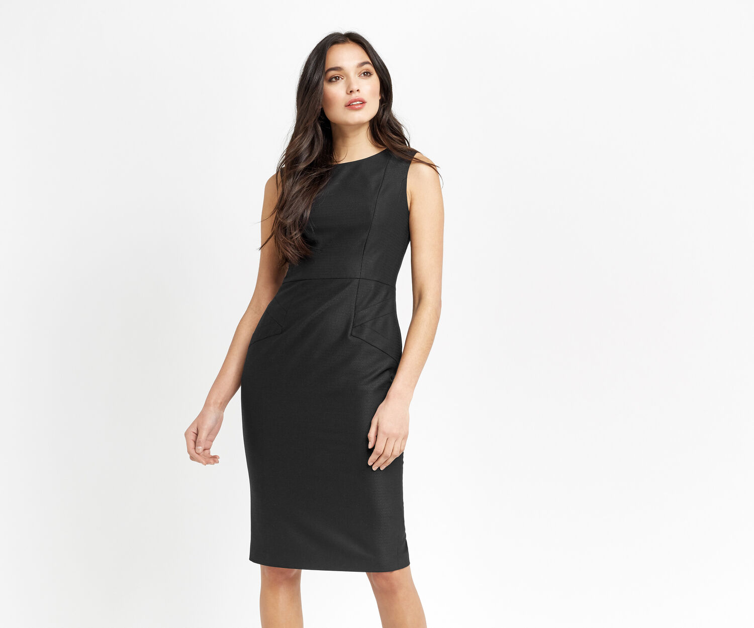 Oasis, HANNAH WORKWEAR DRESS Black 1