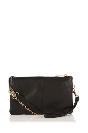 Oasis, LEATHER CROSS-BODY BAG Black 0