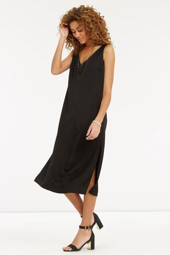 Oasis, Luxe Crepe Slip Dress Black 2