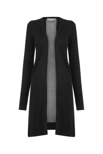 Oasis, Matte and Shine Cardigan Black 0