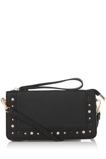 Oasis, PEARL STUDDED MINI XBODY Black 0