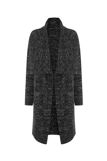 Oasis, Drape tweed cardigan Black 0