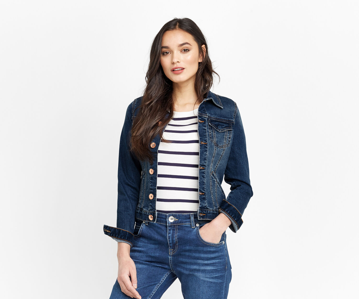 Oasis, WILLOW DENIM JACKET Denim 1