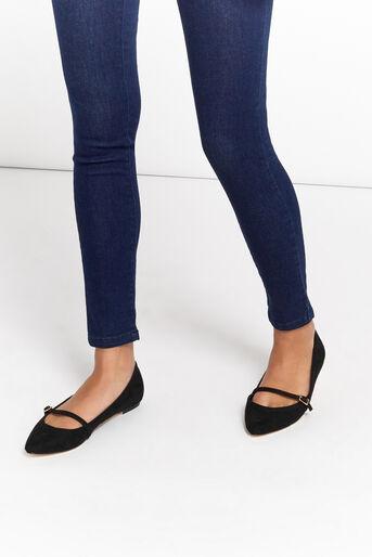 Oasis, Chaussures plates à bout pointu et boucle Noir 1