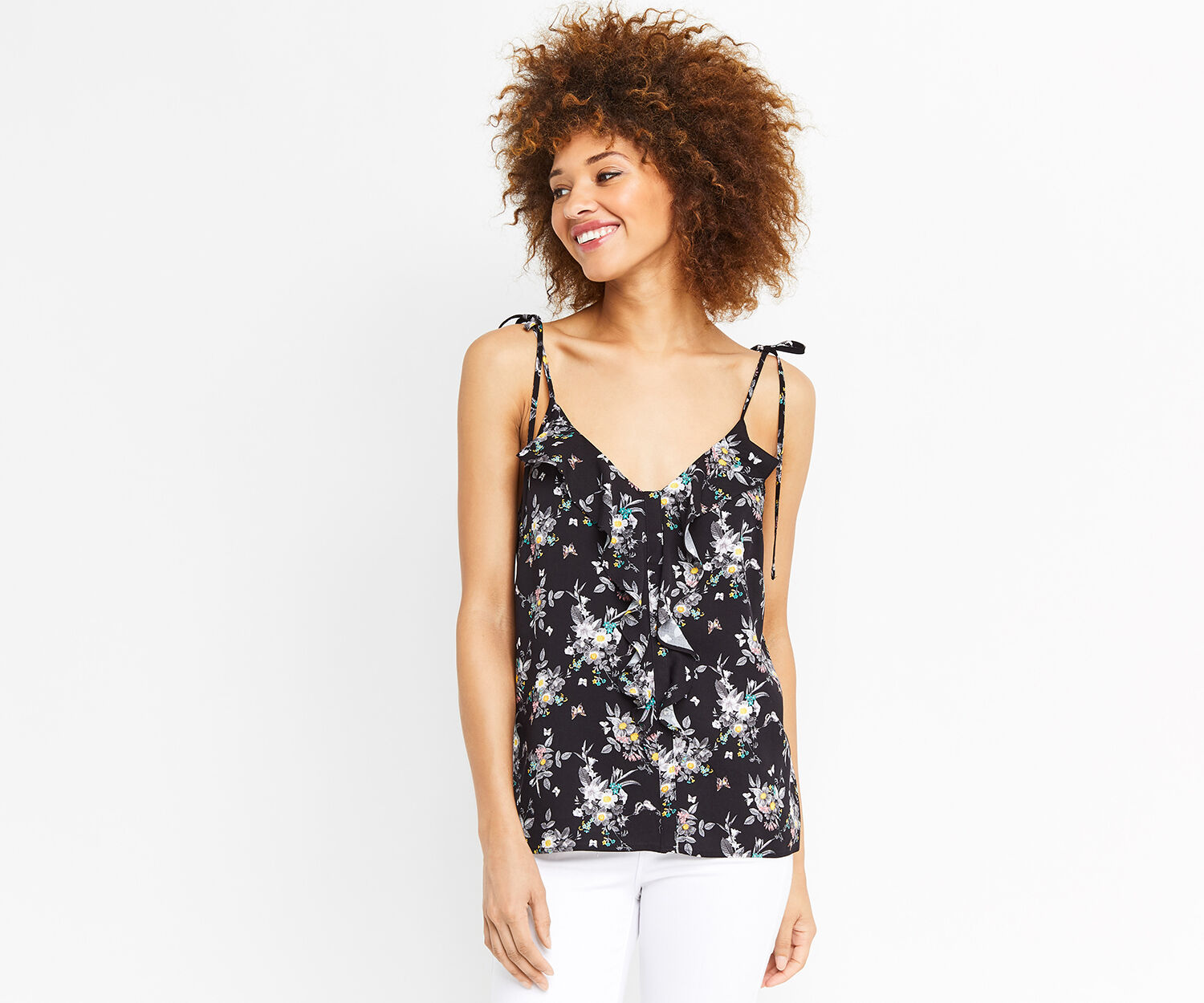 Oasis, DITSY FLORAL CAMI Multi Black 1
