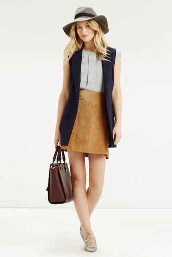 Oasis, Linen Look Top Mid Grey 2