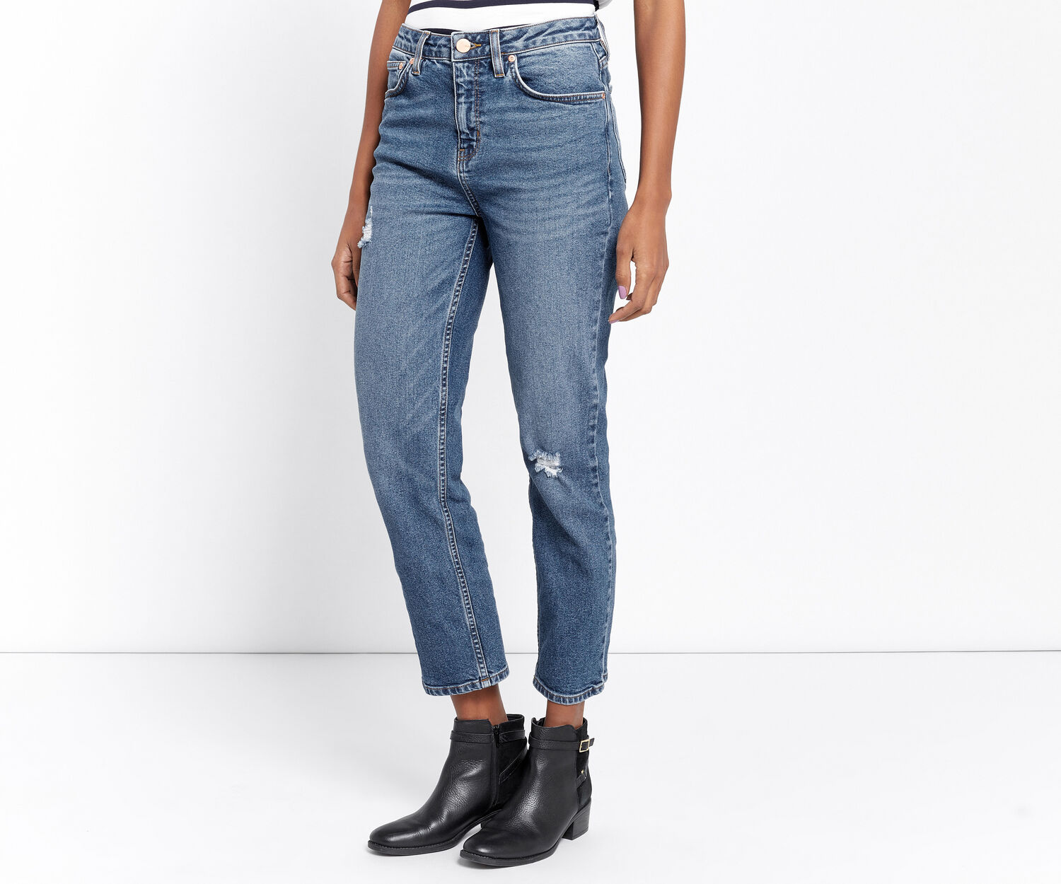 Oasis, SCENE-STEALING STRAIGHT JEANS Denim 1
