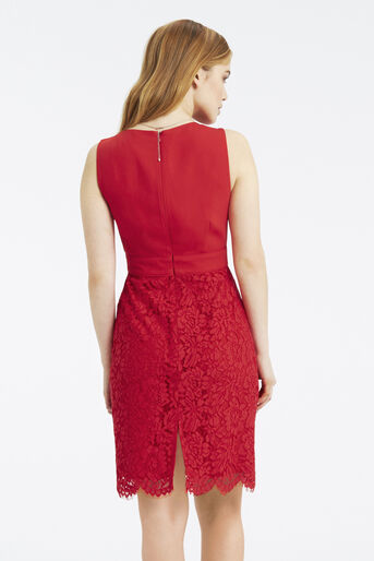 Oasis, Petite Cowl Neck Dress Rich Red 3