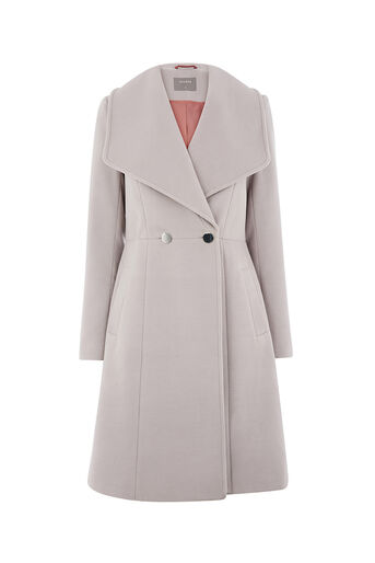 Oasis, LILY PREMIUM SKATER COAT Mid Grey 0