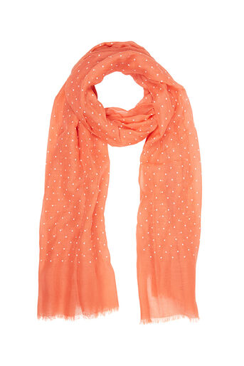 Oasis, PUFF SPOT SCARF Coral 0