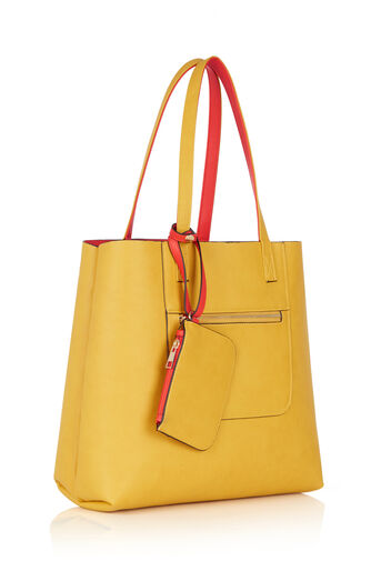 Oasis, Renee Reversible Shopper Multi Orange 2