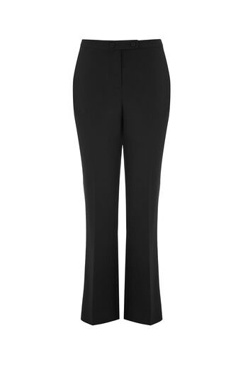 Oasis, SLIM BOOTCUT TROUSERS Black 0