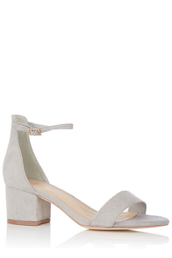 Oasis, JANE BLOCK SANDAL Pale Grey 0
