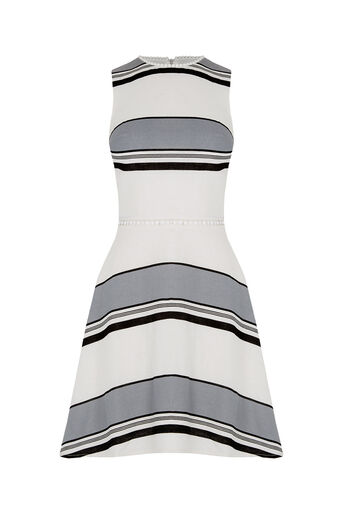 Oasis, Stripe Linen Skater Dress Multi 0