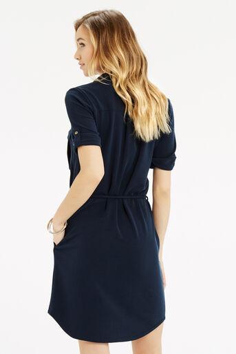 Oasis, Textured Shirt Dress Navy 3