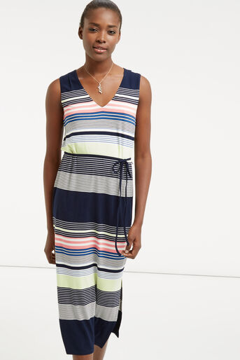 Oasis, Stripe Midi Dress Multi 1