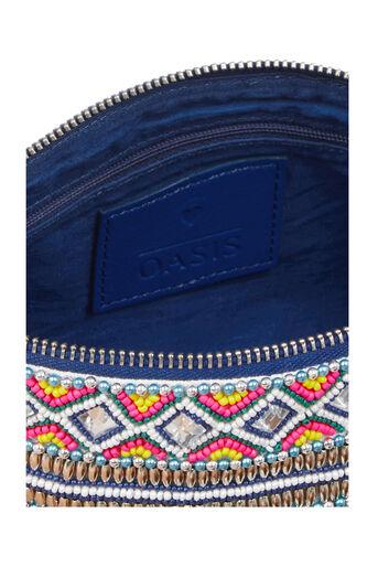 Oasis, Delhi Clutch Bag Multi Blue 4