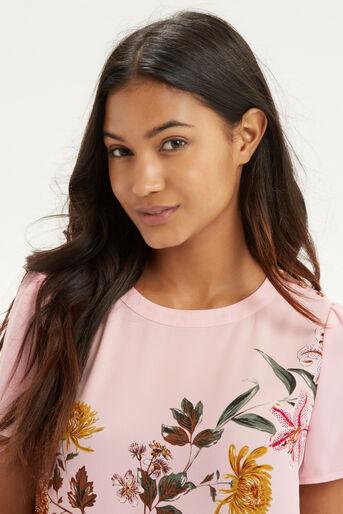 Oasis, Opium Grosgrain T-Shirt Multi Pink 4