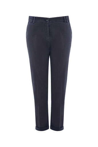Oasis, EMMY CHINO TROUSER Navy 0