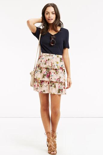 Oasis, Chintz Rosanna Rara Skirt Multi Natural 2