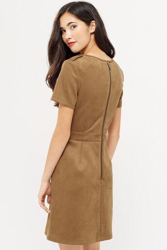 Oasis, SUEDETTE SHIFT DRESS Tan 3