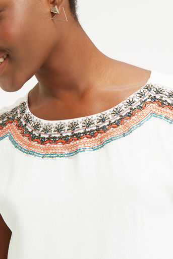 Oasis, EMBELLISHED TOP Off White 4