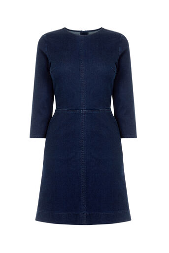 Oasis, RUBY SHIFT DRESS Dark Wash 0