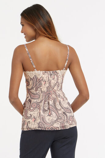 Oasis, LINGERIE LACE PAISLEY CAMI Off White 3