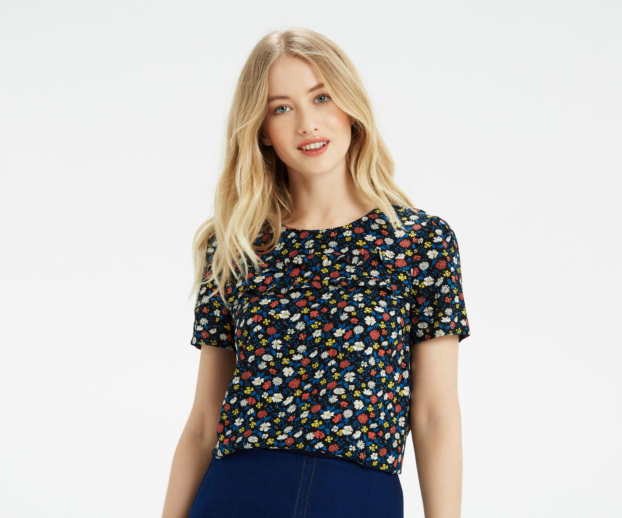Oasis, Ditsy Print T-Shirt Multi 1