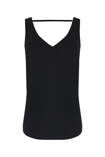 Oasis, EMBELLISHED TRIM VEST Black 0